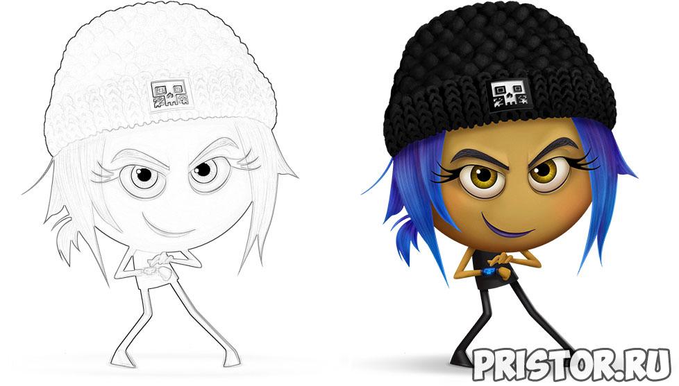 Раскраски Эмоджи из мультфильма - распечатать бесплатно, скачать 5