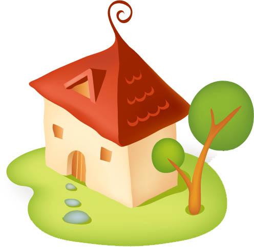 Рисованные домики картинки