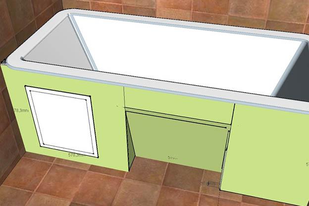 Как сделать экран для ванны своими руками - лучшие способы и советы 12