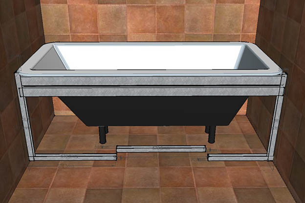 Встраиваемая ванна своими руками 57