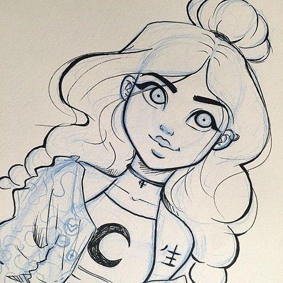 Красивые девушки для срисовки - картинки, рисунки, простые и легкие 13