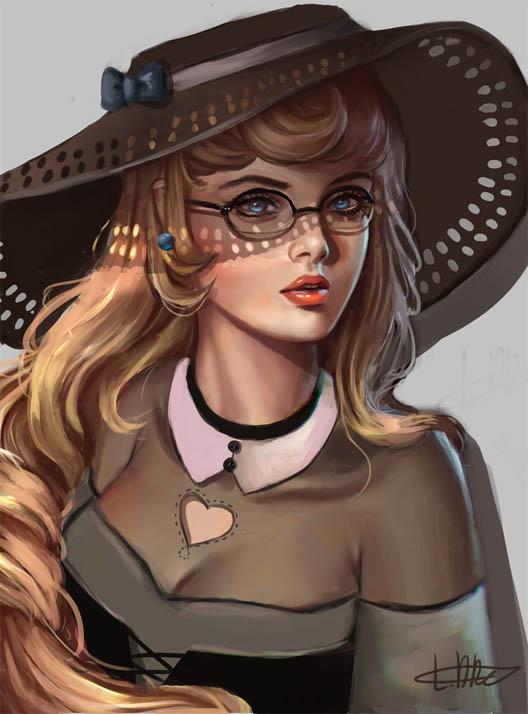 Красивые девушки для срисовки - картинки, рисунки, простые и легкие 17