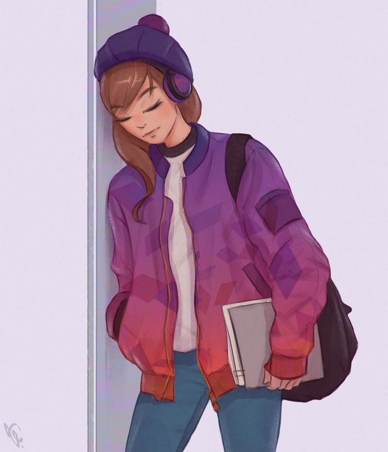 Красивые девушки для срисовки - картинки, рисунки, простые и легкие 2