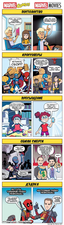 Красивые и прикольные комиксы Марвел - веселая и забавная подборка 3