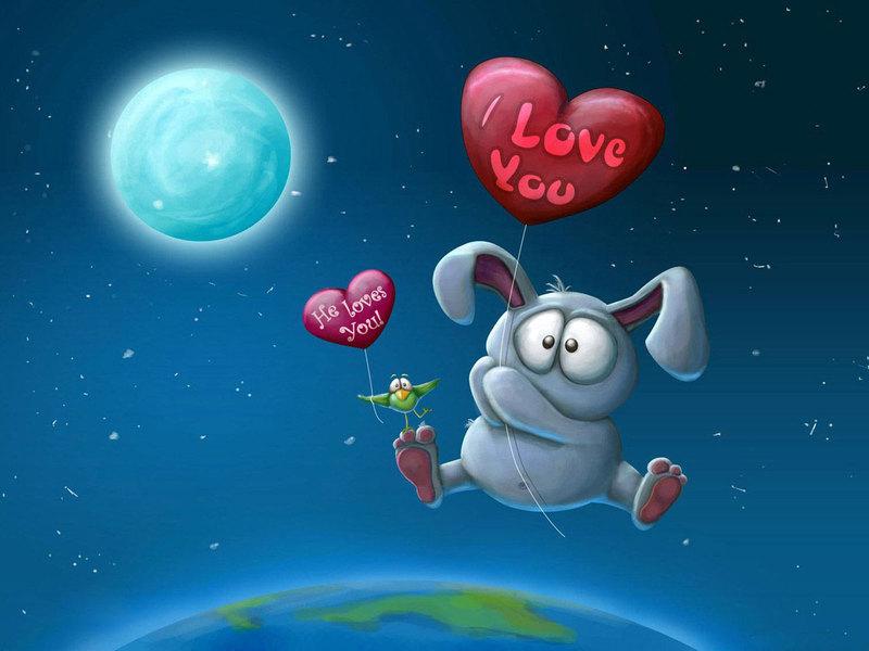 Красивые и прикольные открытки про любовь - скачать бесплатно 10