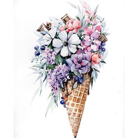 Красивые нарисованные картинки цветов - удивительные и красочные 14