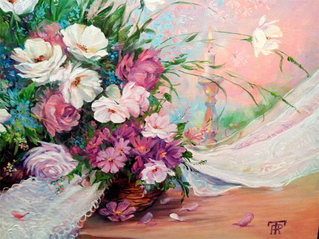 Красивые нарисованные картинки цветов - удивительные и красочные 3