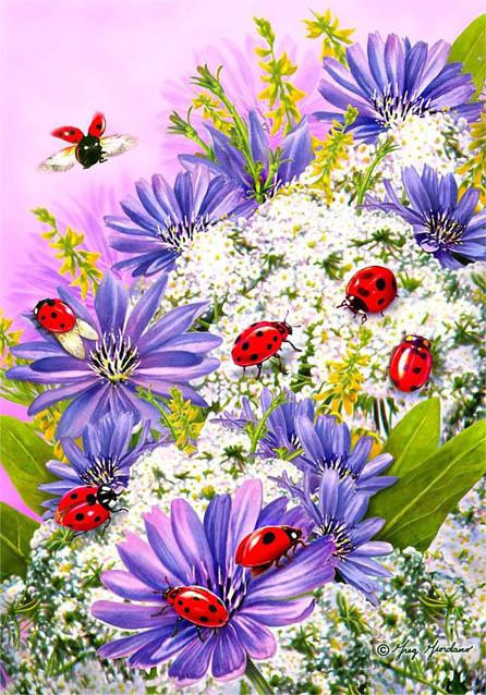 Красивые нарисованные картинки цветов - удивительные и красочные 4