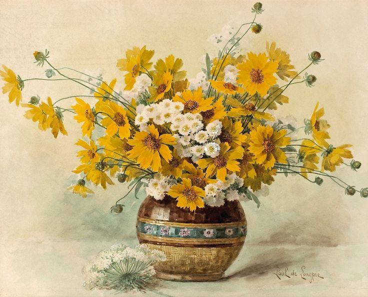 Красивые нарисованные картинки цветов - удивительные и красочные 6