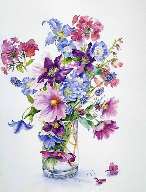 Красивые нарисованные картинки цветов - удивительные и красочные 7