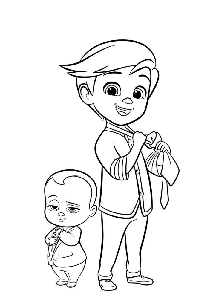 Раскраски Босс-молокосос из мультфильма - красивые и прикольные 11