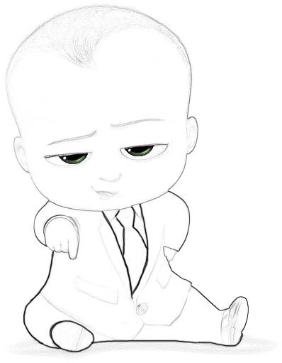 Раскраски Босс-молокосос из мультфильма - красивые и прикольные 5