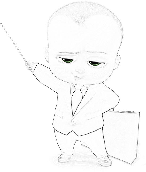 Раскраски Босс-молокосос из мультфильма - красивые и прикольные 8