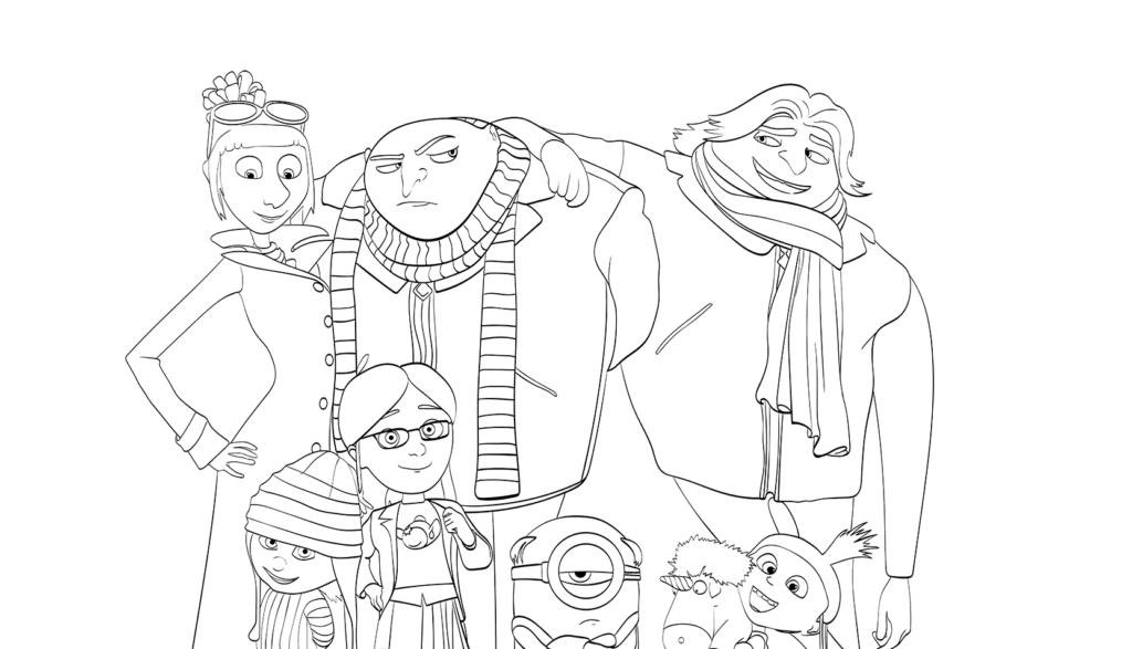Раскраски Гадкий я 3 из мультфильма - прикольные, красивые и крутые 11