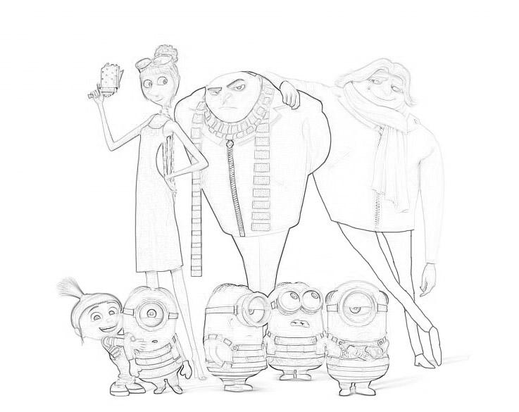 Раскраски Гадкий я 3 из мультфильма - прикольные, красивые и крутые 2