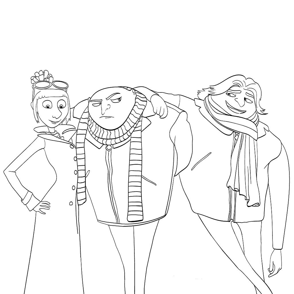 Раскраски Гадкий я 3 из мультфильма - прикольные, красивые и крутые 3