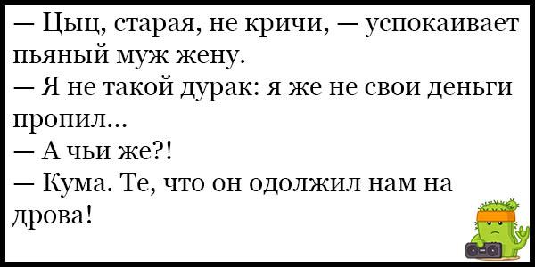 Смешные и веселые анекдоты про пьяных - свежие, подборка №37 13
