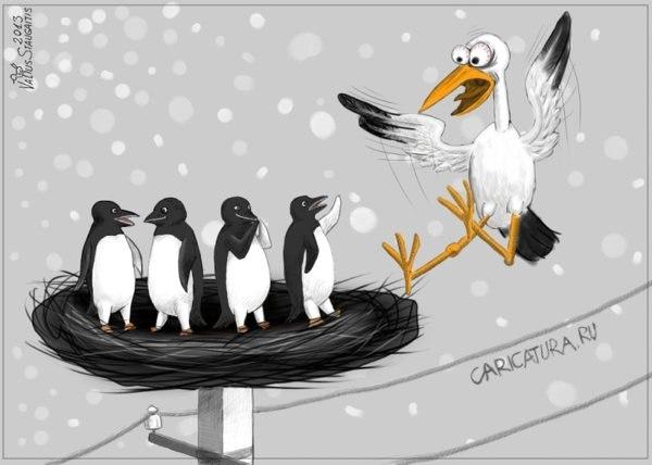 Смешные карикатуры на женщин - прикольные, забавные и веселые 5
