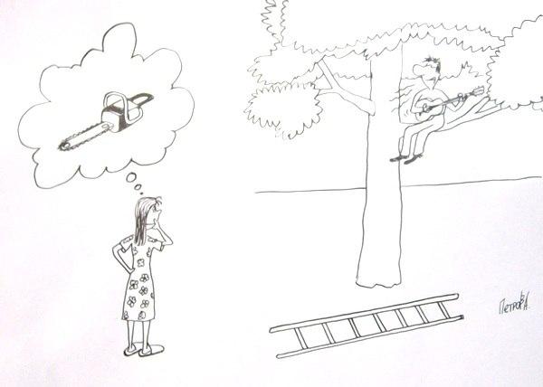 Смешные карикатуры на женщин - прикольные, забавные и веселые 7