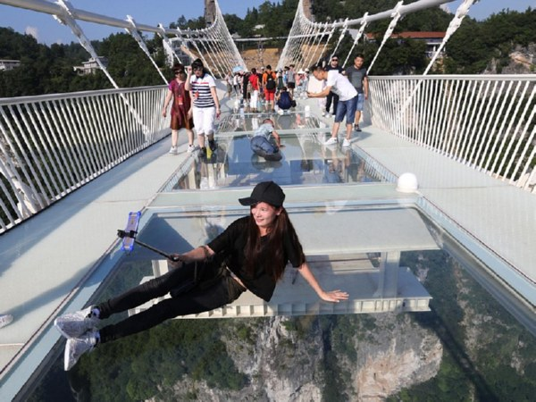 Стеклянный мост в Китае - удивительные и невероятные фото, видео 7