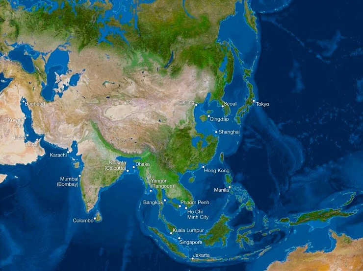 Карта мира после таяния всех льдов. Анализ от National Geographic 4