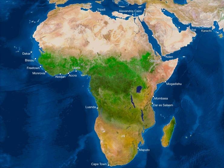 Карта мира после таяния всех льдов. Анализ от National Geographic 5