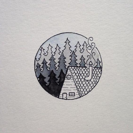 Картинки для срисовки в скетчбук - прикольные и красивые, скачать 2