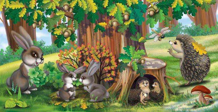 Красивые картинки леса для детей - смотреть, скачать бесплатно 12