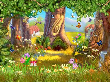 Красивые картинки леса для детей - смотреть, скачать бесплатно 14