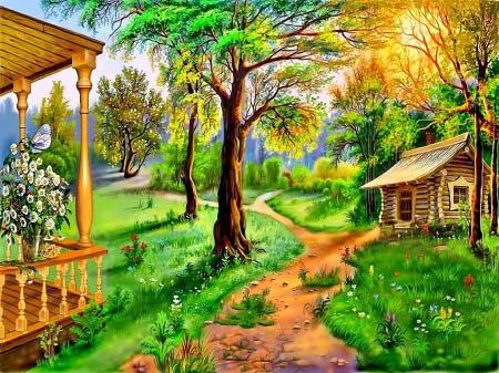 Красивые картинки леса для детей - смотреть, скачать бесплатно 3
