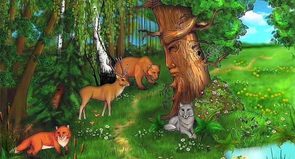 Красивые картинки леса для детей - смотреть, скачать бесплатно 4