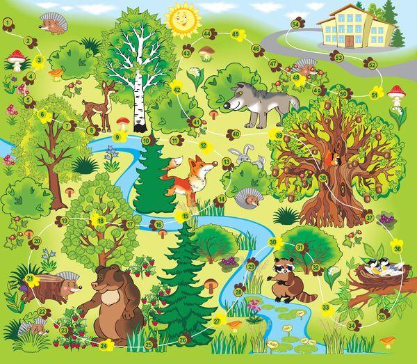 Красивые картинки леса для детей - смотреть, скачать бесплатно 5