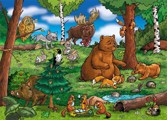 Красивые картинки леса для детей - смотреть, скачать бесплатно 6