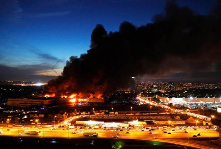 Крупный пожар строительного рынка Синдика - новости, информация 3