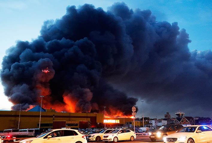 Крупный пожар строительного рынка Синдика - новости, информация 4
