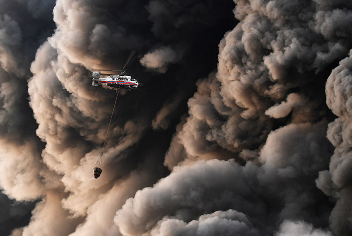Крупный пожар строительного рынка Синдика - новости, информация 5