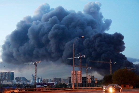 Крупный пожар строительного рынка Синдика - новости, информация 7