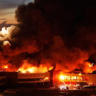 Крупный пожар строительного рынка Синдика - новости, информация 8