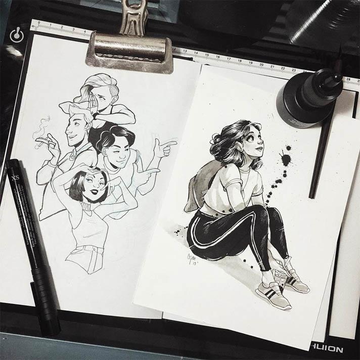 Скачать бесплатно нарисованные картинки - красивые и прикольные 17