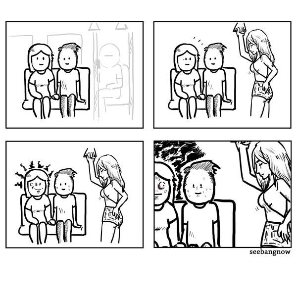 Смешные и прикольные комиксы про девушек - самые новые и свежие 9