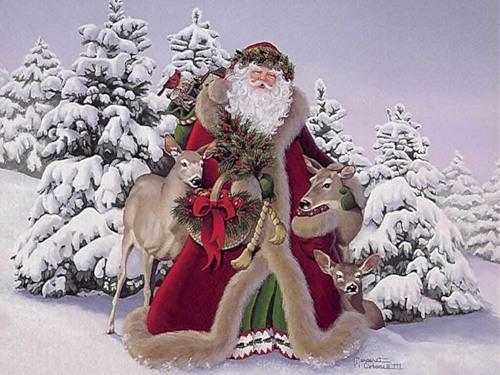 Дед Мороз и Снегурочка красивые картинки - подборка для детей 13