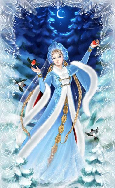 Дед Мороз и Снегурочка красивые картинки - подборка для детей 14