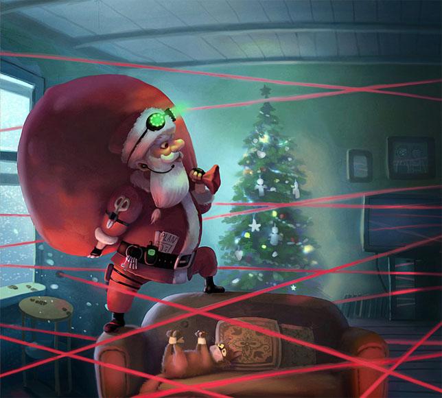 Дед Мороз и Снегурочка красивые картинки - подборка для детей 16