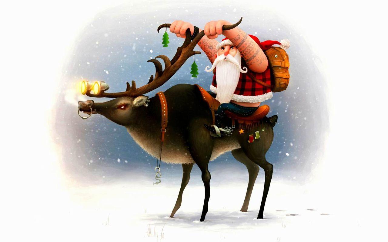 Дед Мороз и Снегурочка красивые картинки - подборка для детей 7