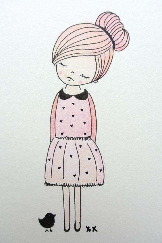 Картинки для срисовки легкие и красивые - для девочек и мальчиков 18