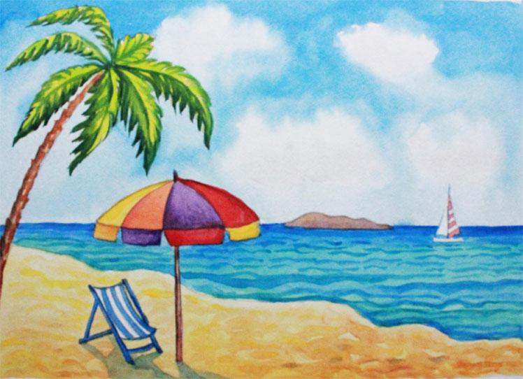 Картинки и рисунок на тему Как я провел лето - красивые и интересные 15