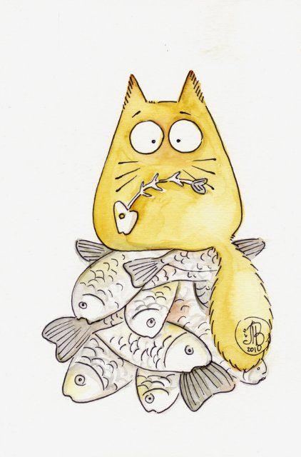 Картинки котиков для срисовки - очень интересные, красивые и легкие 4