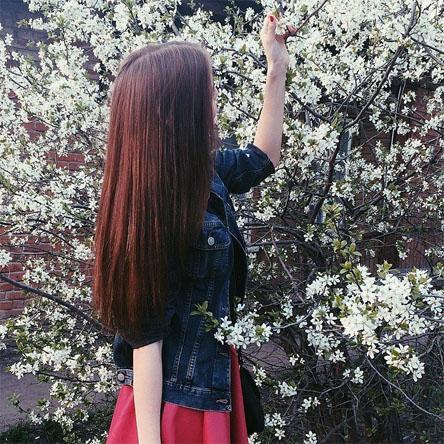 Картинки на аву девушки с красивыми волосами - самые классные 11