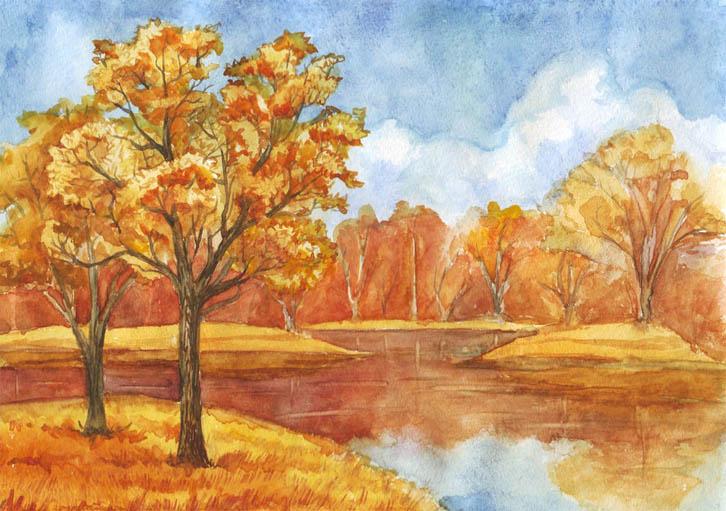 Картинки на тему Осень золотая - для детей, самые красивые и прикольные 11