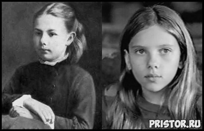 Надежда Крупская в молодости и Скарлетт Йоханссон - забавные сходства 2